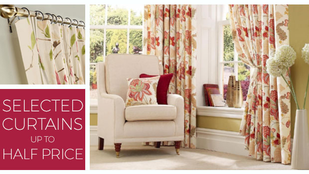 Selected curtains up to half price