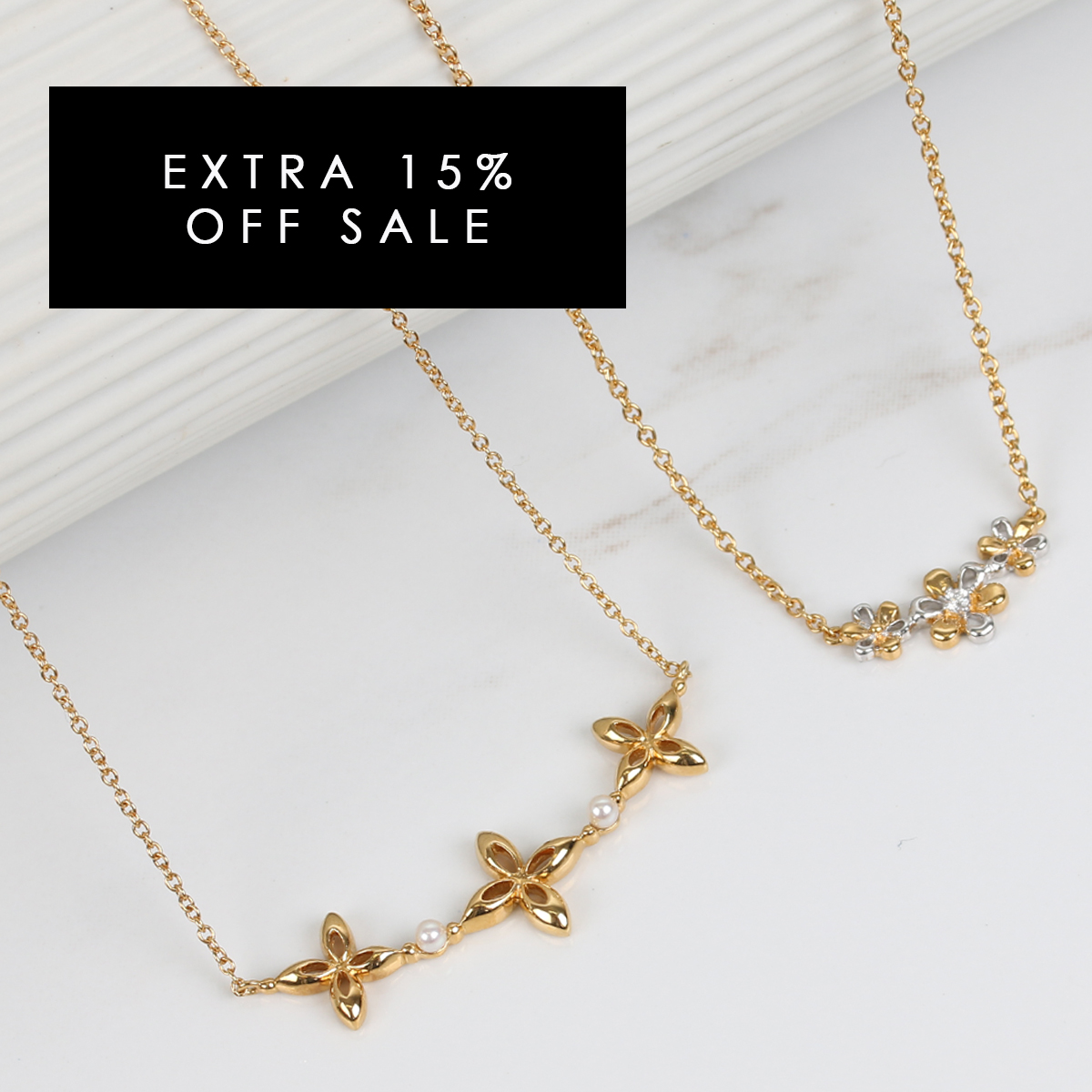 Extra 15% off sale jewellery at Gemondo