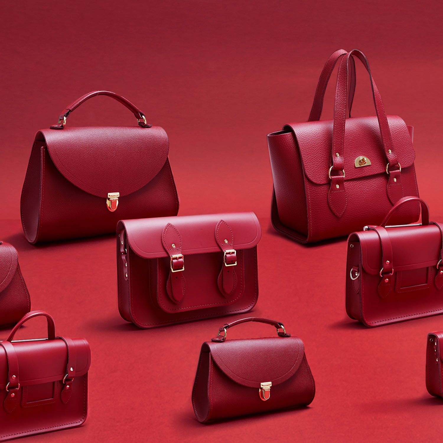 Rhubarb Red Collection | The Cambridge Satchel Company