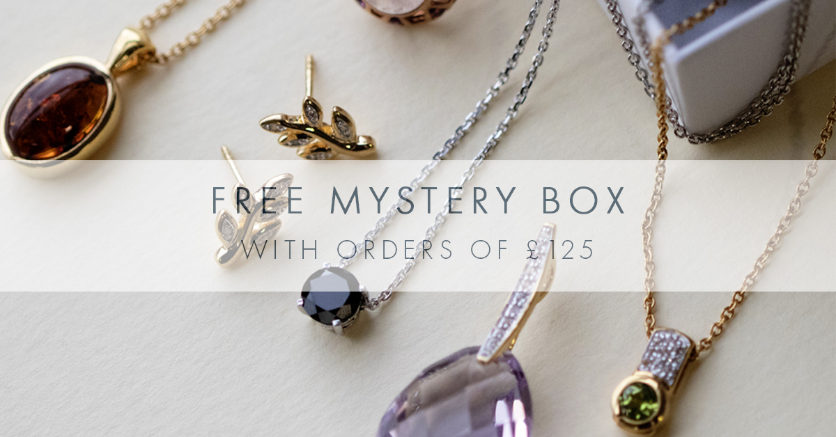 Free jewellery mystery box with minimum £125 spend