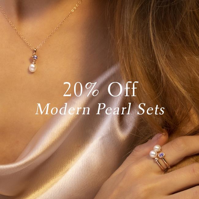 Save on Modern Pearl Jewellery Sets
