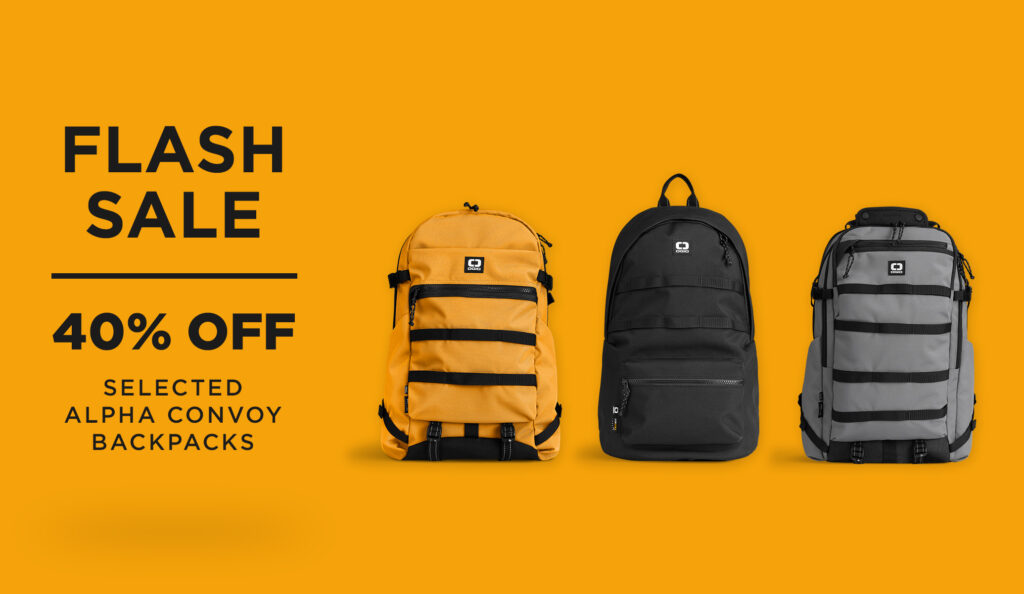 Flash Sale: 40% Off Selected OGIO Alpha Convoy Backpacks banner