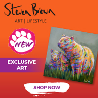 Steven Brown Art Bear Artwork - Square