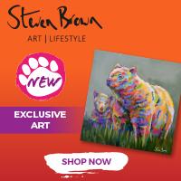 Steven Brown Art Bear Artwork - Square