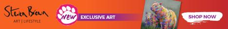 Steven Brown Art Bear Artwork - Landscape