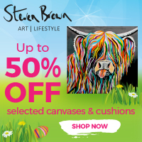 50% Canvas Prints and Cushions at Steven Brown Art