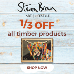 Steven Brown Art sale - 1/3rd off all Timber Work