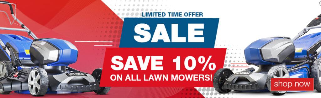SAVE 10% ON ALL HYUNDAI LAWNMOWERS!