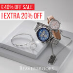 Up to 40% off sale plus an extra 20% off. Beaverbrooks